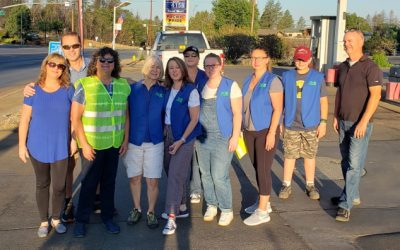 PARADISE ROTARY CLUB HELPS CREATE THE PARADISE PARADE OF FLAGS